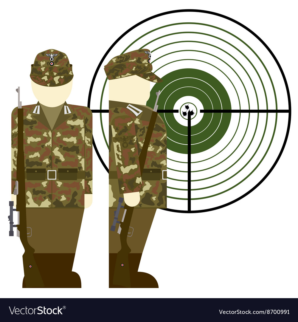German snipers during the second world war vector