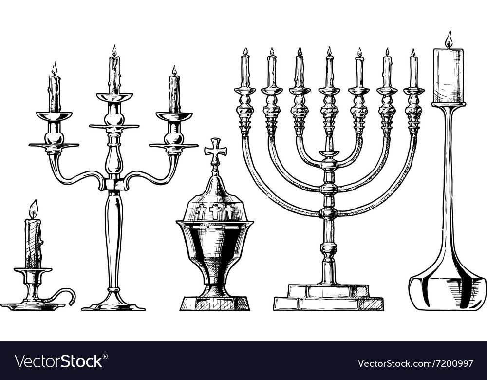 Set of candlesticks vector