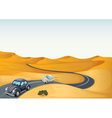 cars in a desert vector image