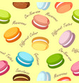 macaroons seamless pattern vector image