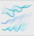set of blue wave eps 10 vector image