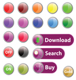 button for web art vector image