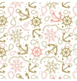 Seamless abstract marine pattern vector image