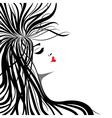 heart lips girl vector image vector image