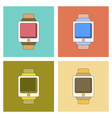 assembly flat icon digital watch vector image