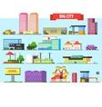 Big City Buildings Set vector image
