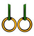 gymnastic rings icon icon cartoon vector image