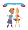 Homosexual gay and lesbian people vector image
