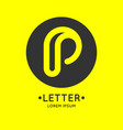 modern linear logo and sign the letter p vector image