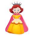 queen in yellow dress vector image