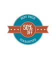 Vintage Label - best Price fifty Percent off vector image