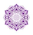 Violet Flower Mandala Over White vector image