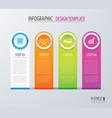 business infographics with 4 steps number options vector image