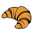 croissant icon cartoon vector image