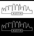 austin skyline linear style editable file vector image