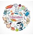 Education icon doodle vector image vector image