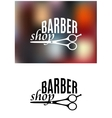 Barber shop sign design vector image vector image