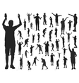 rappers silhouette vector image