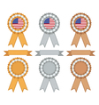 Usa gold silver and bronze vector image