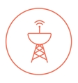 Radar satellite dish line icon vector image