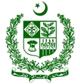 coat of arms of Pakistan vector image