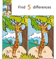 Find differences giraffe vector image