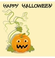 Greeting card with Halloween pumpkin vector image