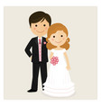 happy just married on their wedding day vector image