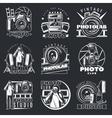 Photo Studio Emblems Set vector image