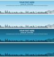 tucson skyline event banner vector image