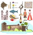 Montenegro culture symbol set vector image