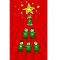 Kids Christmas Tree vector image