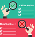 Positive and Negative review vector image