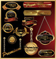 premium quality golden framed labels vector image vector image