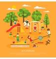 Kids Plaing Poster vector image