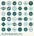 Set of Finest Quality Labels vector image