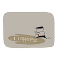 Chasing Happiness vector image