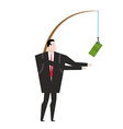 financial incentive for employee Fishing rod with vector image