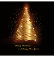 gold spruce vector image