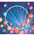 Holiday card with flying balloons vector image
