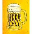 Poster beer day yellow vector image