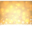 snowflakes border with shiny golden background vector image