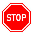 stop sign on white background red stop symbol vector image