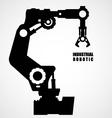 Industrial robotics - production line machinery vector image