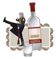 Vodka solider vector image vector image