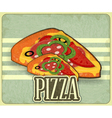 pizza retro label vector image vector image