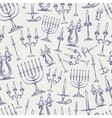 Candles ball pen style seamless pattern vector image