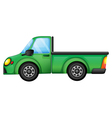 A green truck vector image