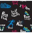 Athlete runner feet running pattern vector image