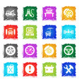 car service simply icons vector image